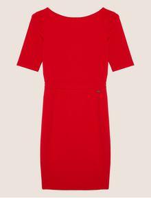 ARMANI EXCHANGE BOATNECK SCOOP-BACK BODYCON DRESS Midi dress Woman r
