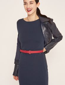 ARMANI EXCHANGE BOATNECK SCOOP-BACK BODYCON DRESS Midi Dress [*** pickupInStoreShipping_info ***] a