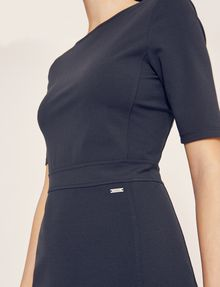 ARMANI EXCHANGE BOATNECK SCOOP-BACK BODYCON DRESS Midi Dress [*** pickupInStoreShipping_info ***] b
