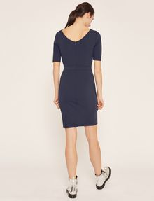 ARMANI EXCHANGE BOATNECK SCOOP-BACK BODYCON DRESS Midi Dress [*** pickupInStoreShipping_info ***] e
