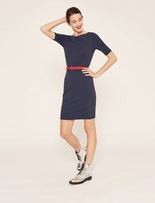 ARMANI EXCHANGE BOATNECK SCOOP-BACK BODYCON DRESS Midi Dress [*** pickupInStoreShipping_info ***] f