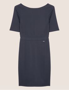 ARMANI EXCHANGE BOATNECK SCOOP-BACK BODYCON DRESS Midi Dress [*** pickupInStoreShipping_info ***] r