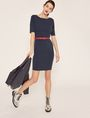 ARMANI EXCHANGE BOATNECK SCOOP-BACK BODYCON DRESS Midi Dress [*** pickupInStoreShipping_info ***] d