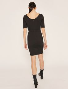 ARMANI EXCHANGE BOATNECK SCOOP-BACK BODYCON DRESS Midi dress Woman e