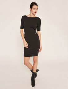 ARMANI EXCHANGE BOATNECK SCOOP-BACK BODYCON DRESS Midi dress Woman f