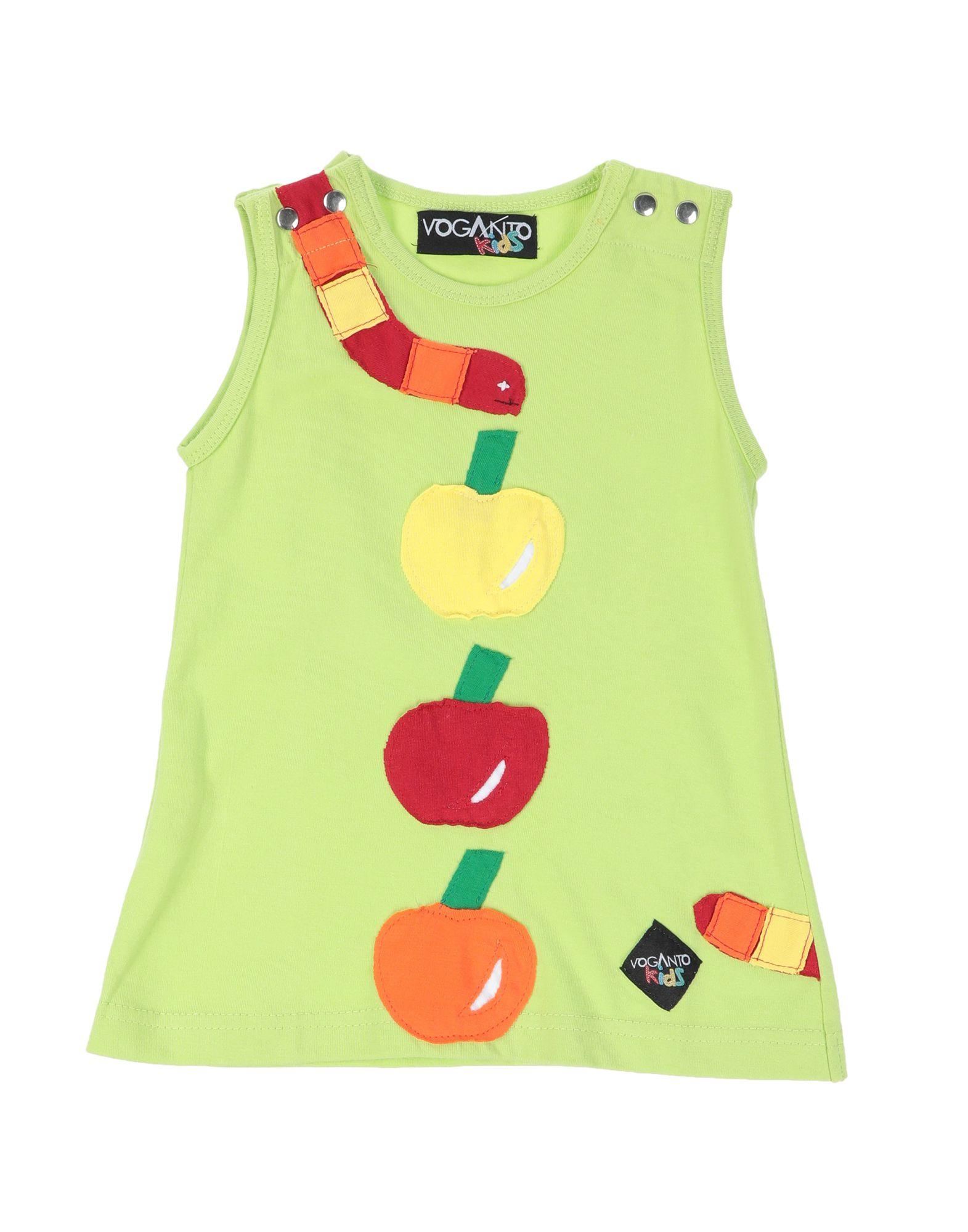 《送料無料》VOGANTO KIDS ガールズ 0-24 ヶ月 ワンピース・ドレス ライトグリーン 12 コットン 100%