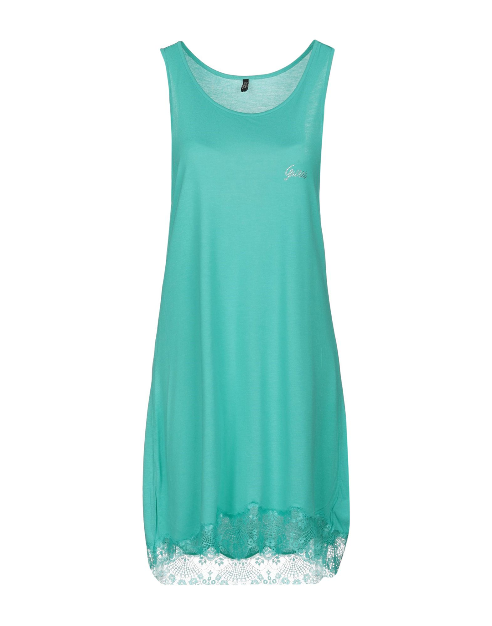 GUESS Короткое платье платье без рукавов с кружевной вставкой на спинке