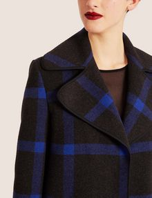 ARMANI EXCHANGE PLAID WOOL-BLEND COAT Coat [*** pickupInStoreShipping_info ***] b