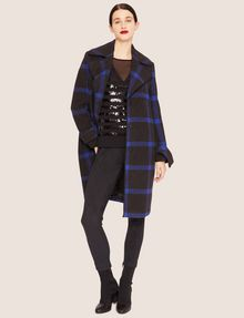 ARMANI EXCHANGE PLAID WOOL-BLEND COAT Coat [*** pickupInStoreShipping_info ***] d