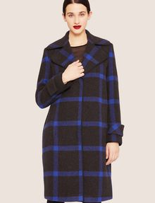 ARMANI EXCHANGE PLAID WOOL-BLEND COAT Coat [*** pickupInStoreShipping_info ***] f