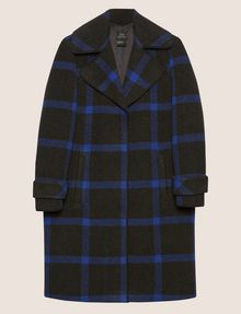 ARMANI EXCHANGE PLAID WOOL-BLEND COAT Coat [*** pickupInStoreShipping_info ***] r