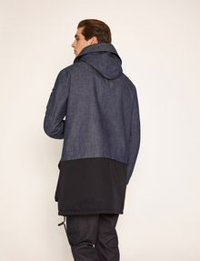 ARMANI EXCHANGE COLORBLOCKED DARK DENIM PARKA Jacket Man e