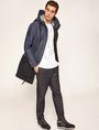 ARMANI EXCHANGE COLORBLOCKED DARK DENIM PARKA Jacket Man d