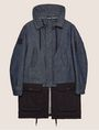 ARMANI EXCHANGE COLORBLOCKED DARK DENIM PARKA Jacket Man r