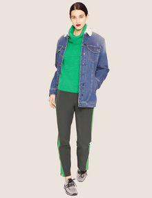 ARMANI EXCHANGE TRUCKER-JACKE AUS KUNST-POLARFLEECE IN LONGLINE-SILHOUETTE Jeansjacke Damen d