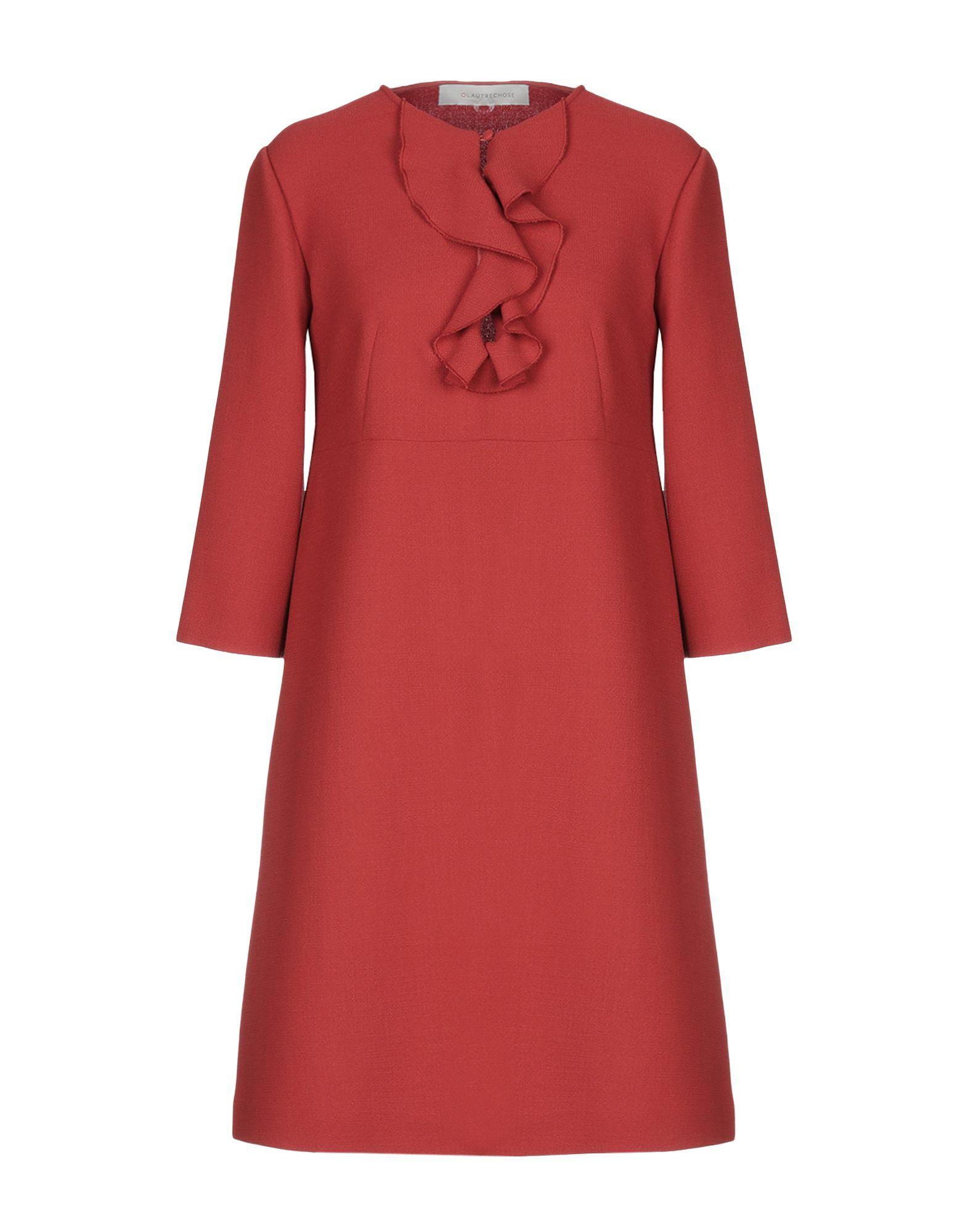 Короткое платье  Красный,Розовый цвета