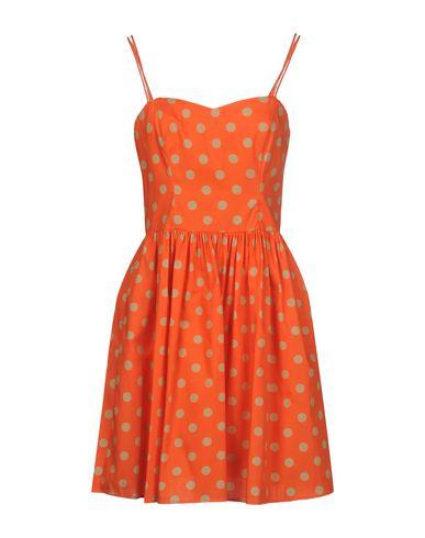 Купить Женское короткое платье JEREMY SCOTT оранжевого цвета