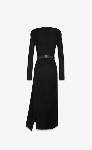 SAINT LAURENT Dresses Woman Arabesque décolleté column dress in drap de laine b_V4