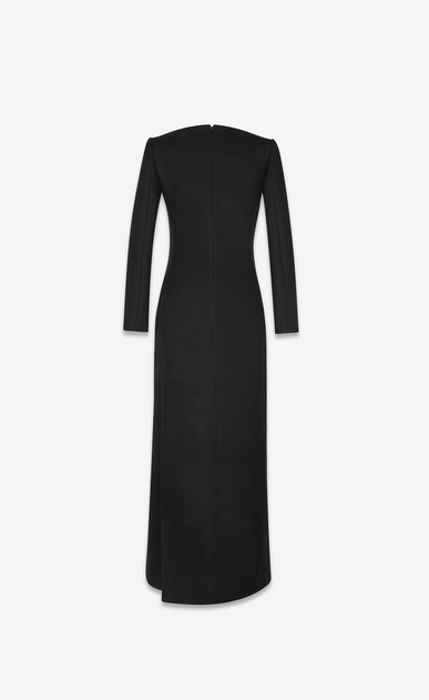 SAINT LAURENT Dresses Woman plunging heart neckline column dress in drap de laine b_V4