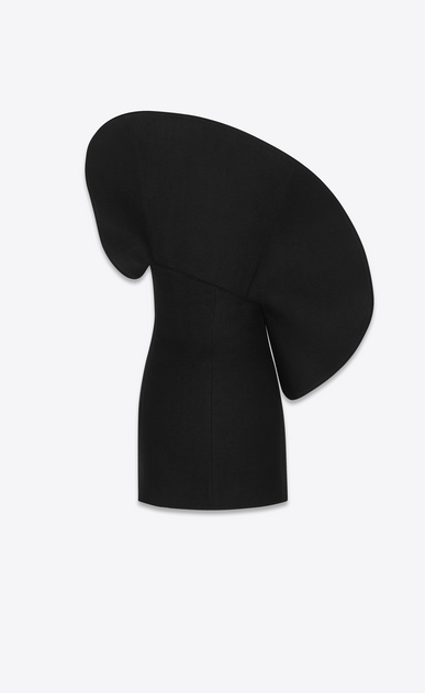 SAINT LAURENT Dresses Woman oversized flounce bustier dress in drap de laine b_V4