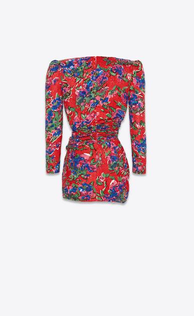 SAINT LAURENT ドレス レディース all over embroidered Deep V neck dress b_V4