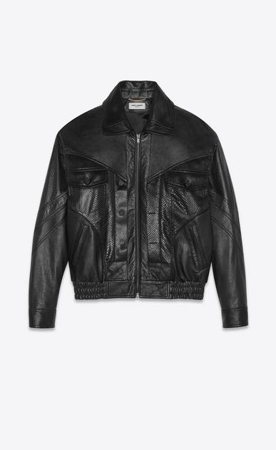 SAINT LAURENT カジュアルジャケット レディース lambskin jacket with python cuts a_V4