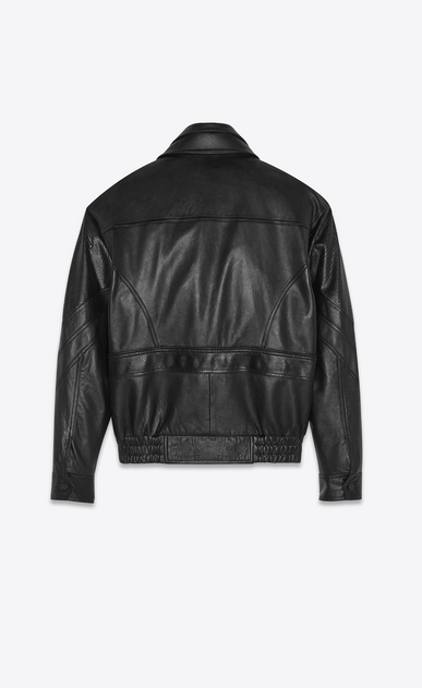 SAINT LAURENT Casual Jackets Woman lambskin jacket with python cuts b_V4