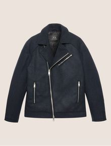 ARMANI EXCHANGE MELTON MOTO JACKET Blouson Jacket [*** pickupInStoreShippingNotGuaranteed_info ***] r