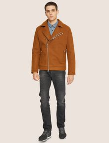 ARMANI EXCHANGE MELTON MOTO JACKET Blouson Jacket Man d