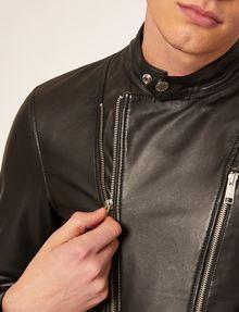 ARMANI EXCHANGE CLEAN-FRONT LEATHER MOTO Blouson Jacket Man b