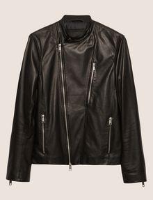 ARMANI EXCHANGE CLEAN-FRONT LEATHER MOTO Blouson Jacket Man r