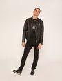 ARMANI EXCHANGE CLEAN-FRONT LEATHER MOTO Blouson Jacket Man d