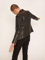 ARMANI EXCHANGE CLEAN-FRONT LEATHER MOTO Blouson Jacket Man e