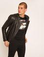 ARMANI EXCHANGE CLEAN-FRONT LEATHER MOTO Blouson Jacket Man f