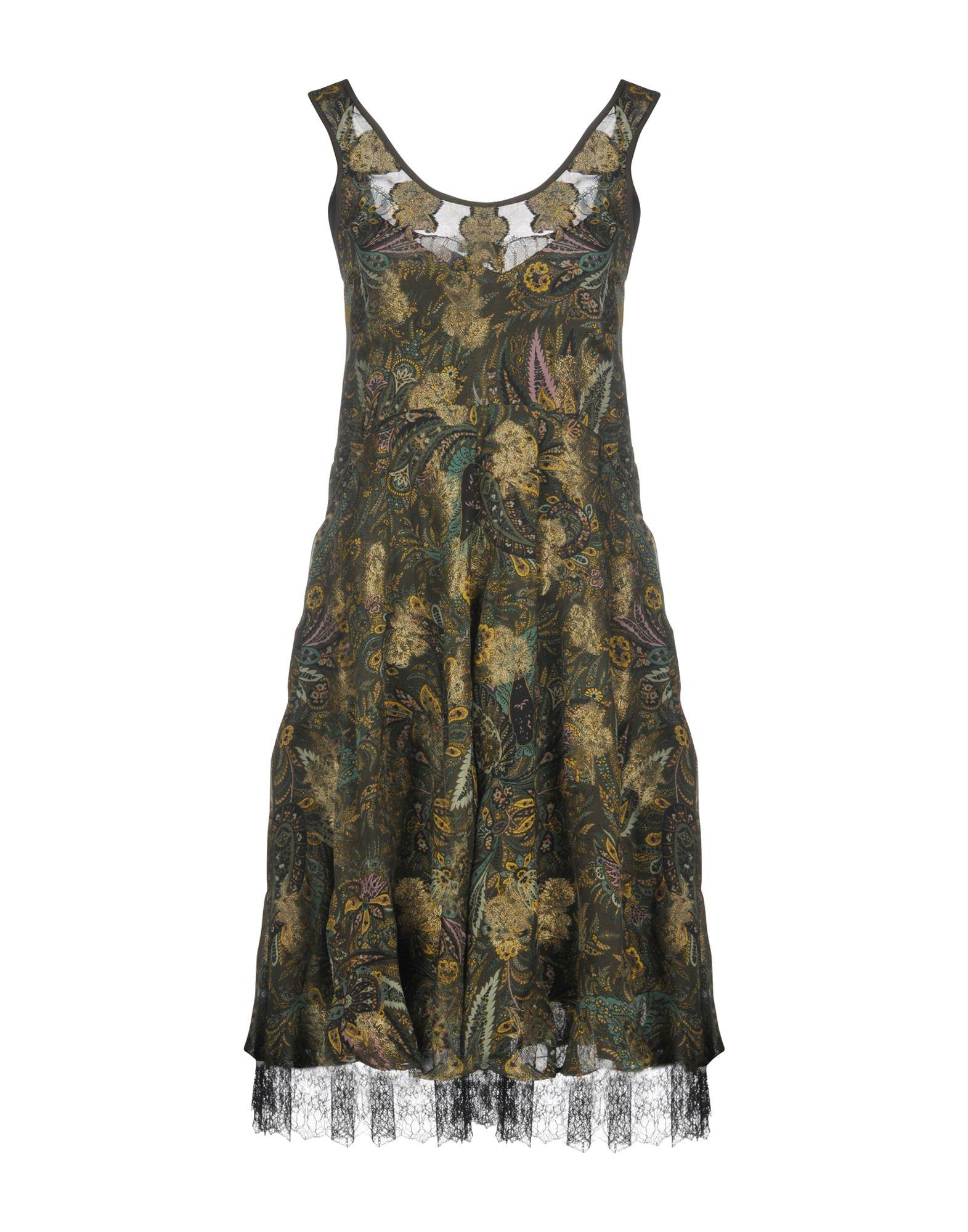 ETRO Платье до колена платье без рукавов с кружевной вставкой на спинке