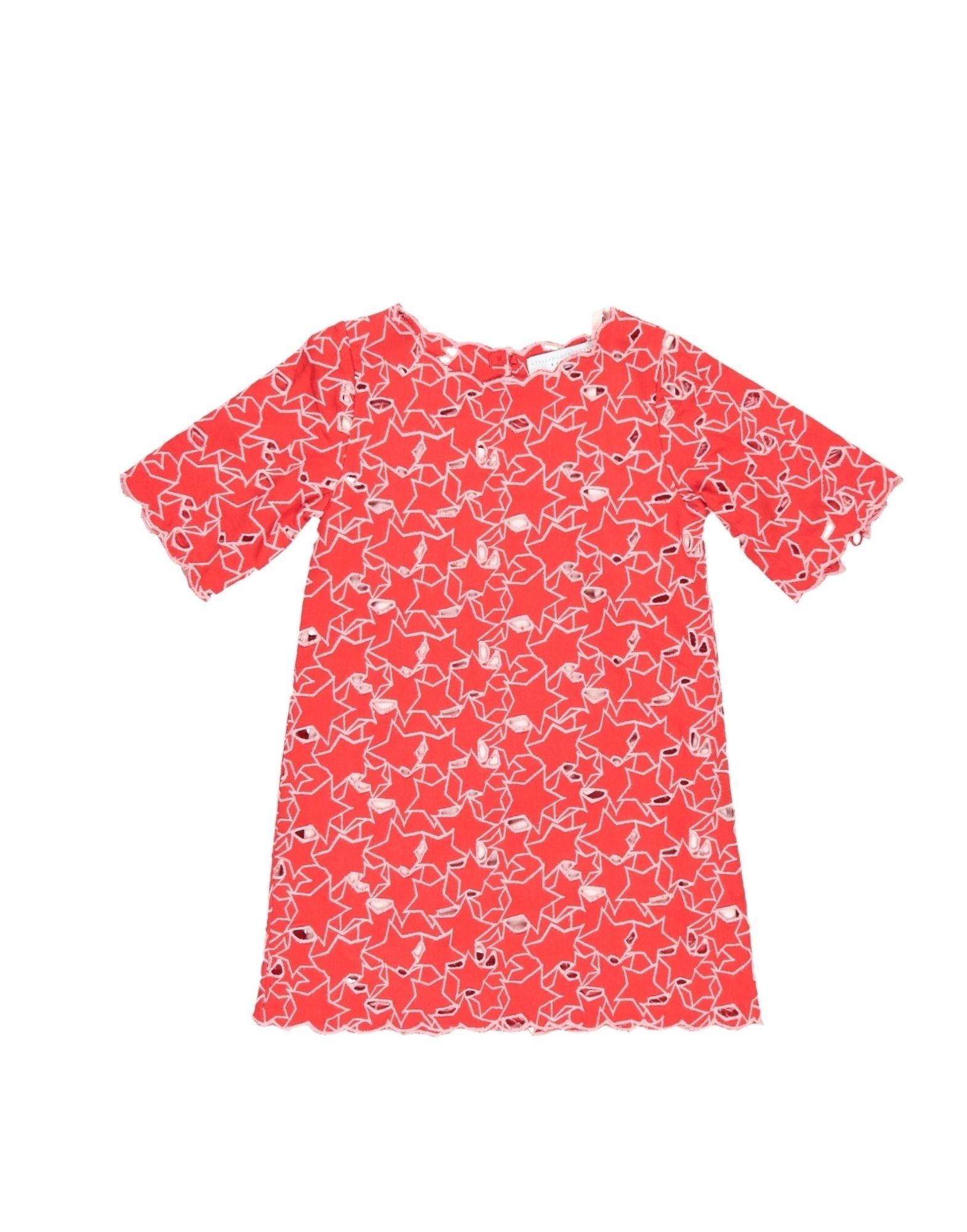 《送料無料》STELLA McCARTNEY KIDS ガールズ 3-8 歳 ワンピース&ドレス レッド 4 コットン 100% / ポリエステル