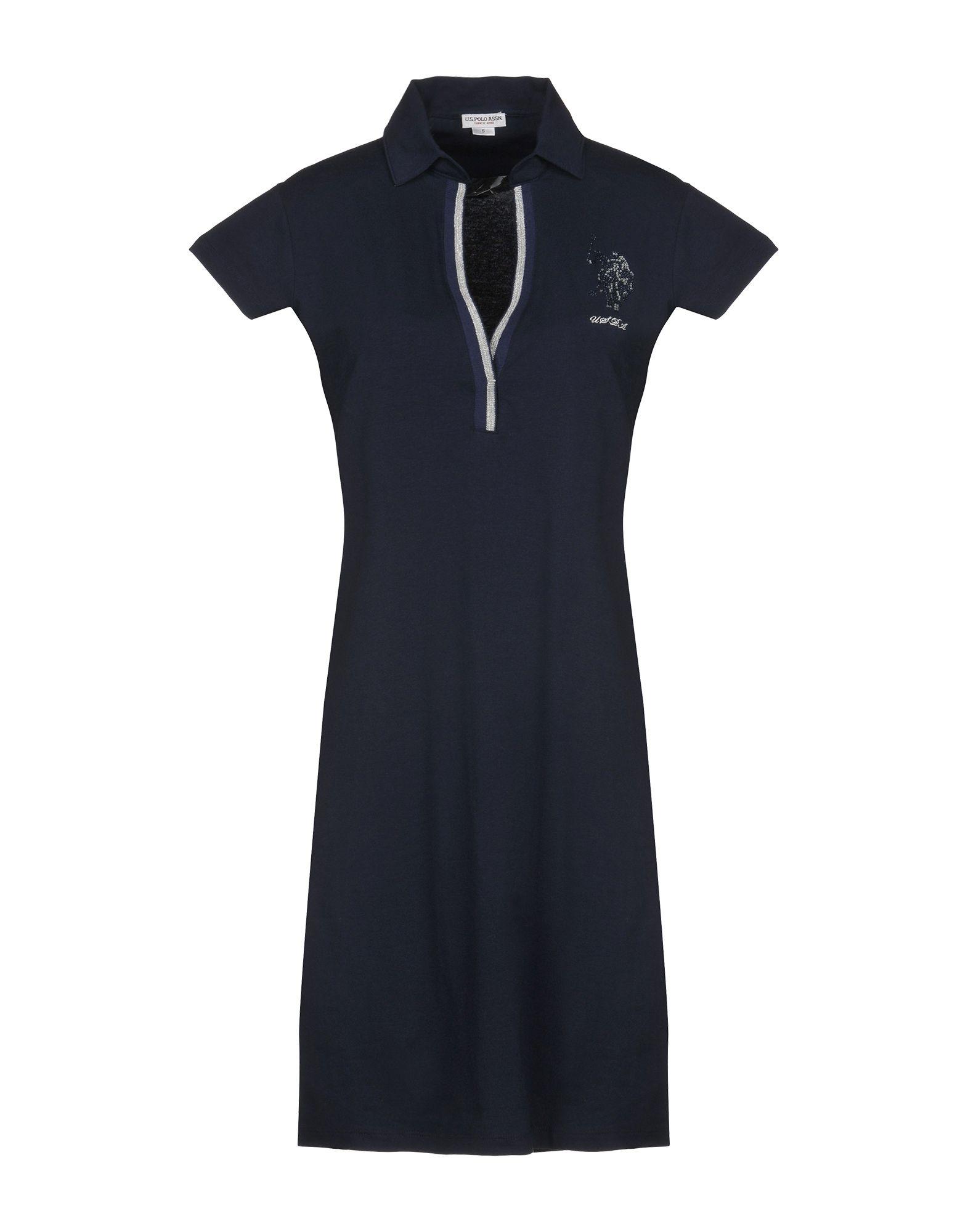 U.S.POLO ASSN. Damen Kurzes Kleid Farbe Dunkelblau Größe 4