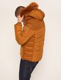 ARMANI EXCHANGE FAUX FUR-LINED HOODED MELTON PARKA PUFFER JACKET Man e
