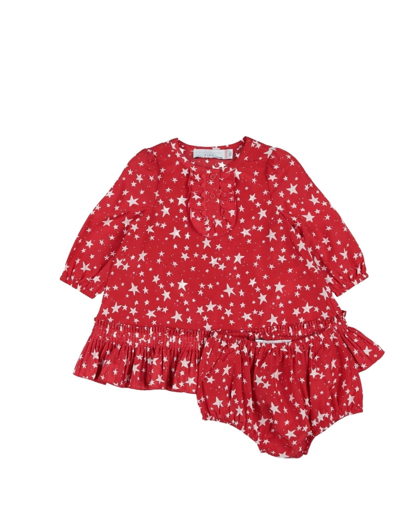 《送料無料》STELLA McCARTNEY KIDS ガールズ 0-24 ヶ月 ワンピース・ドレス レッド 3 シルク 60% / コットン 40%