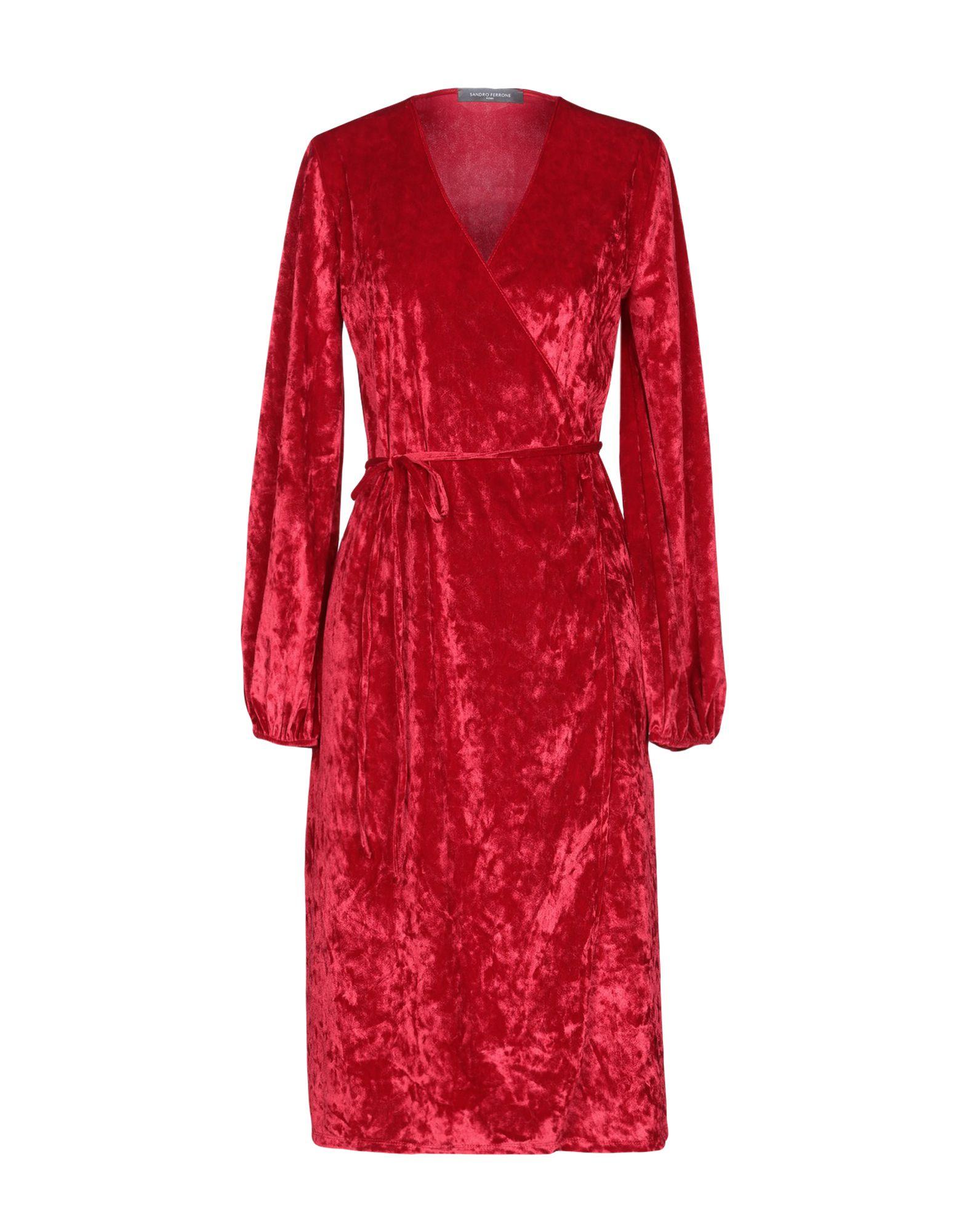 SANDRO FERRONE Платье до колена sandro металлический ремень цепочка