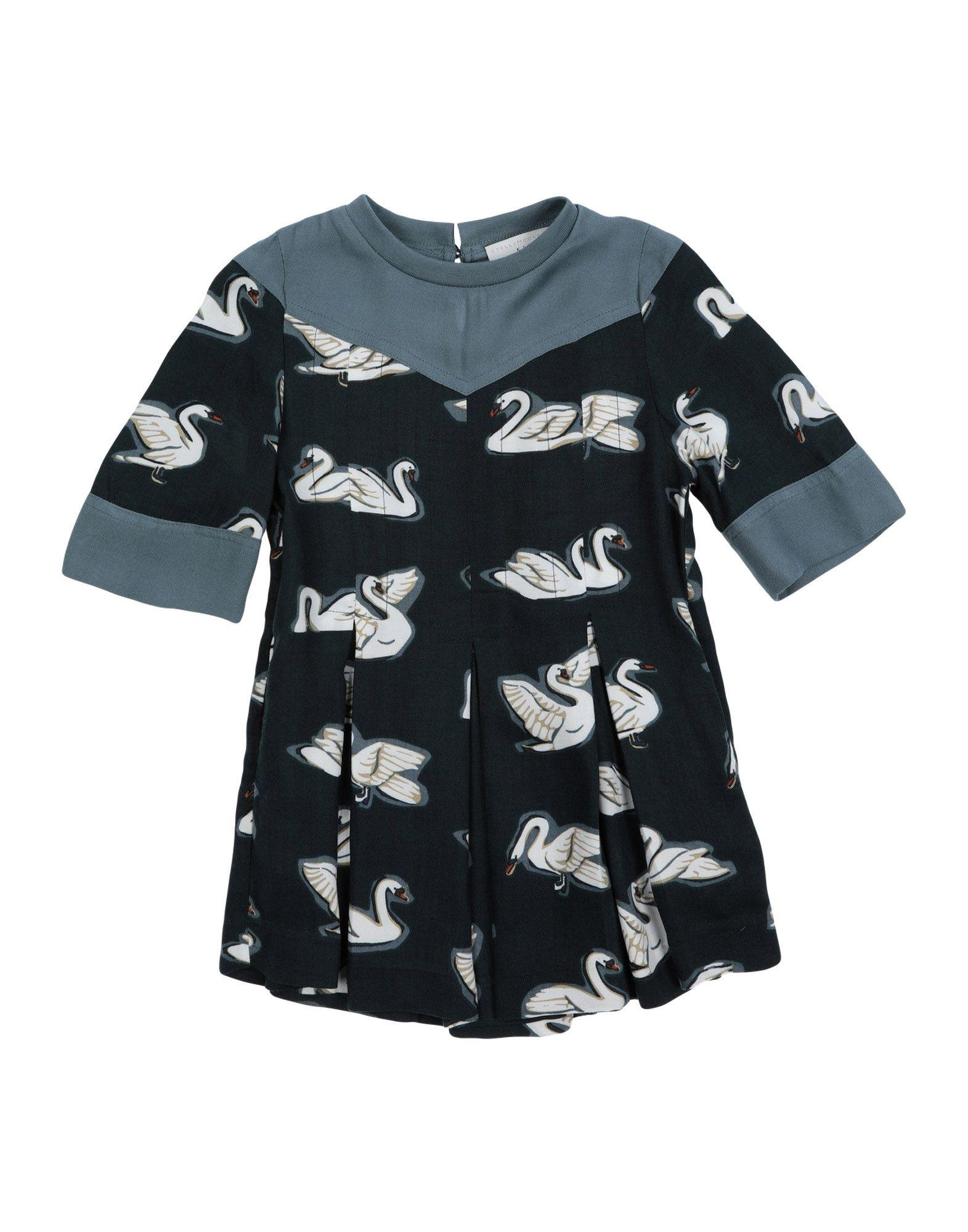 《送料無料》STELLA McCARTNEY KIDS ガールズ 0-24 ヶ月 ワンピース・ドレス ブルーグレー 24 レーヨン 100% / コットン / ポリウレタン