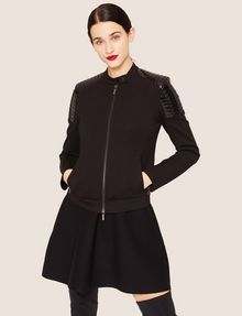 ARMANI EXCHANGE CHANNEL-QUILTED PATENT MOTO JACKET Blouson Jacket Woman f
