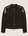 ARMANI EXCHANGE CHANNEL-QUILTED PATENT MOTO JACKET Blouson Jacket Woman r