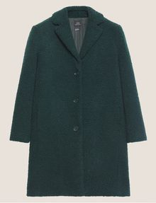 ARMANI EXCHANGE FAUX-SHERPA PEA COAT Coat Woman r