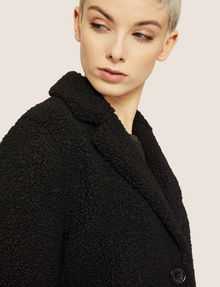 ARMANI EXCHANGE FAUX-SHERPA PEA COAT Coat Woman b