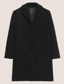 ARMANI EXCHANGE FAUX-SHERPA PEA COAT Coat Woman r