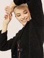 ARMANI EXCHANGE FAUX-SHERPA PEA COAT Coat Woman a