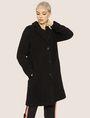 ARMANI EXCHANGE FAUX-SHERPA PEA COAT Coat Woman f