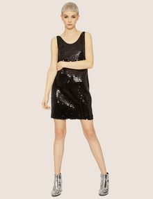 ARMANI EXCHANGE SLEEVELESS SEQUIN SHIFT DRESS Mini Dress Woman d