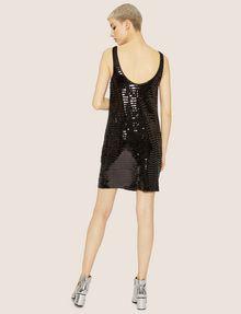 ARMANI EXCHANGE SLEEVELESS SEQUIN SHIFT DRESS Mini Dress Woman e